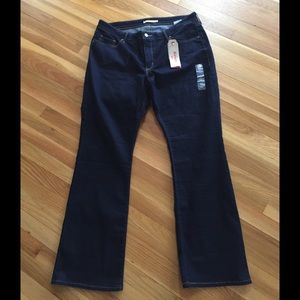 NWT Levi's 315 Shaping Bootcut Dark Jeans 22W